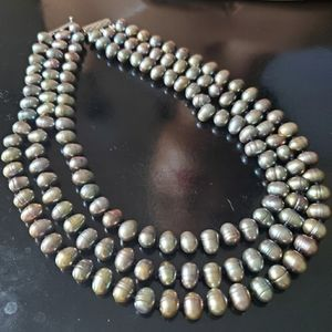 Jewelry - Vintage Tahitian Baroque Black Pearl Necklace